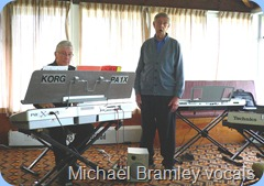 "Gordon Sutherland accompanying Michael Bramley singing ""Over The Rainbow"". Photo courtesy of Annabelle Bramley"