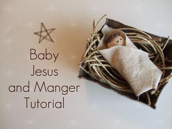 Baby Jesus And Manger Tutorial