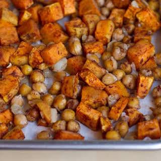 Cinnamon Spice Sweet Potato Chickpea Salad.