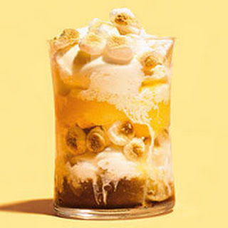 Root Beer & Orange Slushie Sundaes with Toasted Marshmallows Recipe