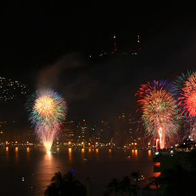 The Great Finale by Kamila Romanowska - Abstract Fire & Fireworks ( acapulco, new year, mexico, fireworks, night, celebration )