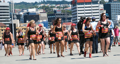 people dressed costumes wellington sevens rugby tournament