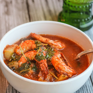 Mexican Spicy Roasted Shrimp and Potatoes Stew