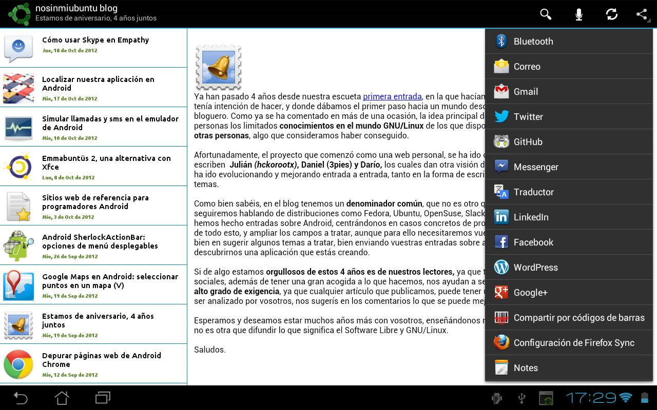nosinmiubuntu blog - screenshot