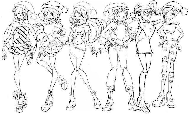 Winx Club Dibujos Para Colorear De Winx