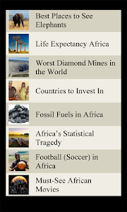 World Travel Lists - AFRICA screenshot 3