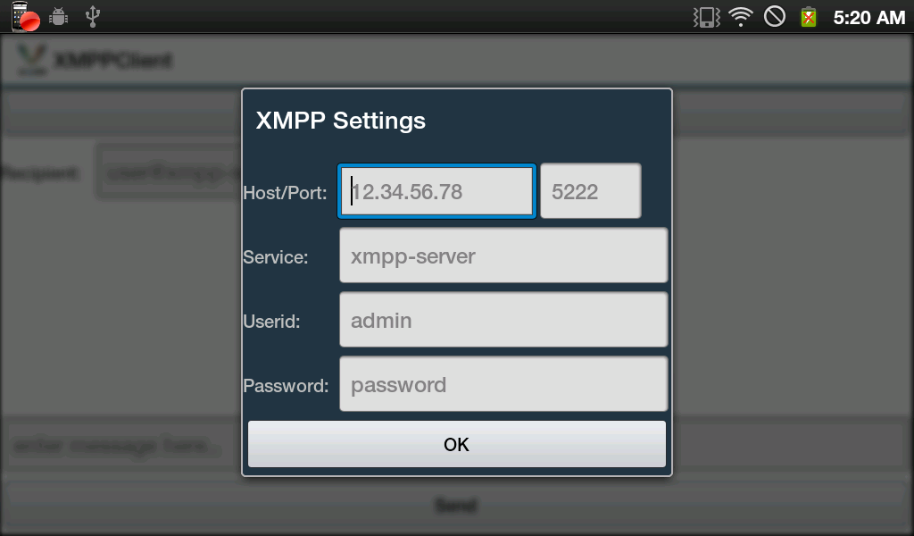XMPP Client- screenshot