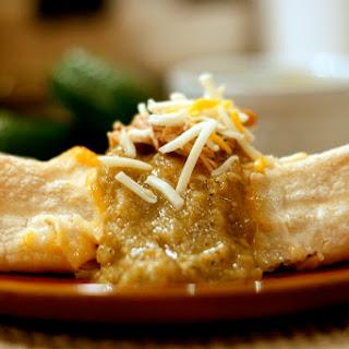 Beer Braised Chicken Enchiladas with Salsa Verde