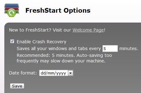 FreshStart: The nicest session manager for Chrome - Instant