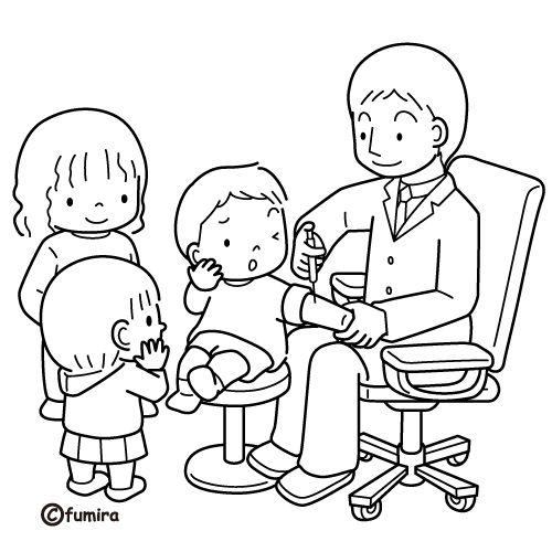 Los Niños Y El Medico Dibujos Para Pintar