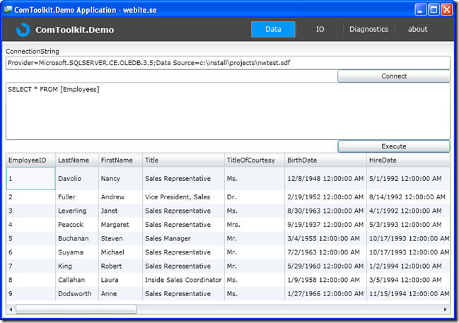 Everything SQL Server Compact: Access a local SQL Compact