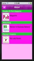 Screenshot of Shades of Pink Magazine