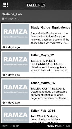 【免費教育App】Ramza-Matemáticas Financieras-APP點子