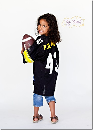 Mariah in Football Jersey