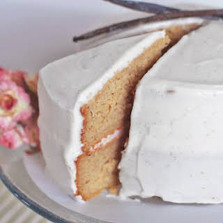 Healthy Vanilla Bean Cake with a Classic Vanilla Bean Frosting [1st version].