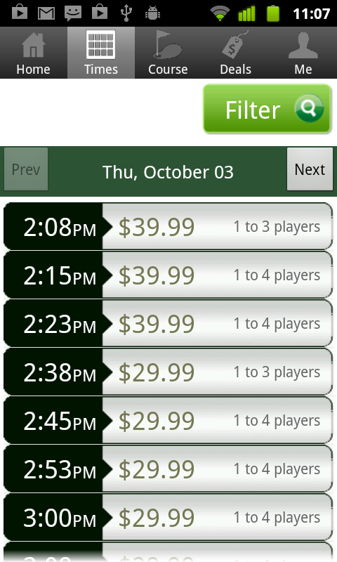 Halifax Golf Tee Times- screenshot