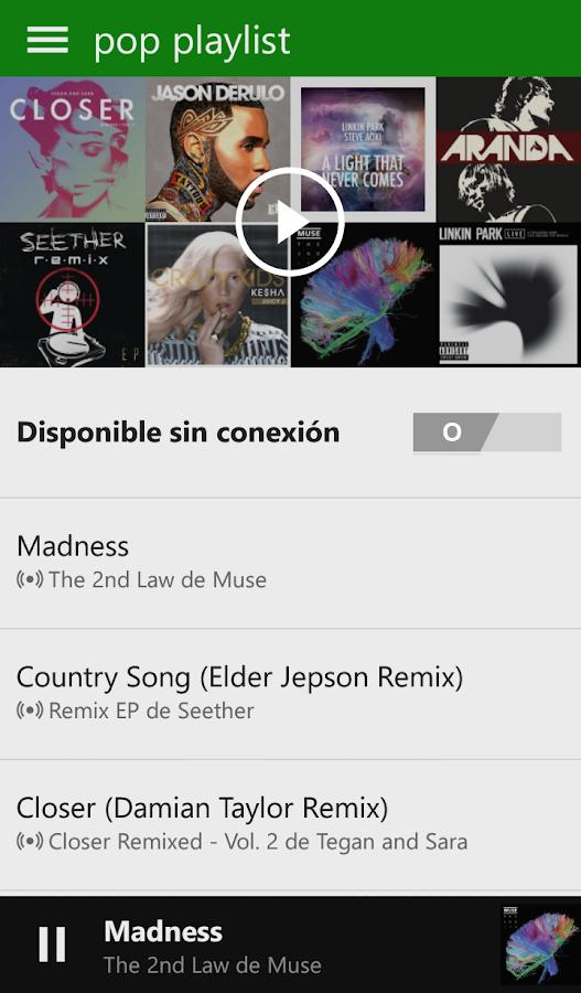 Xbox Music - screenshot