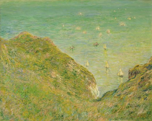claude monet, cliff at pourbelle