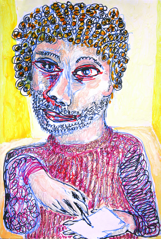 self-portrait as artist who cannot even draw, frank waaldijk