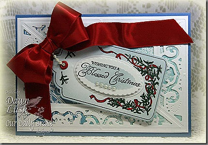 Blessed Christmas Mistletoe-Snowflakes