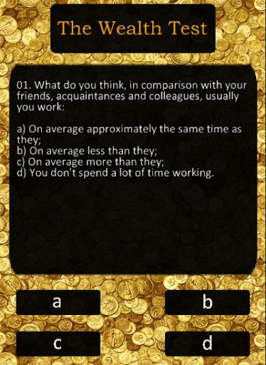 Test on wealth