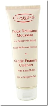 Clarins Gentle Foaming Cleanser With Shea Butter for  Dry or Sensitive Skin