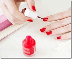 woman applying nail polish-2