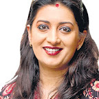 Smriti Irani sporting sindoor on her forehead