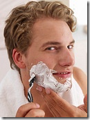 Shave with a high quality razor