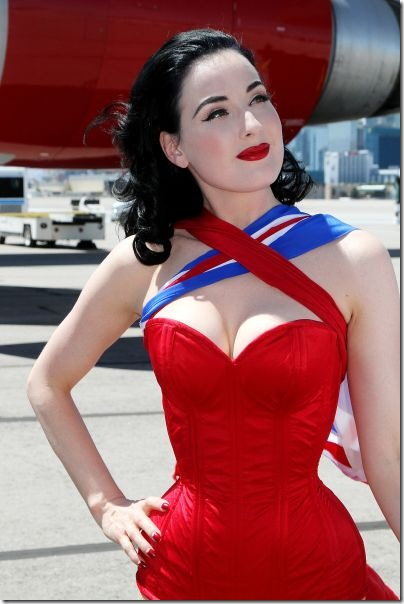 Dita Loves Red Lipstick Hot Lingerie Beauty And Personal Grooming