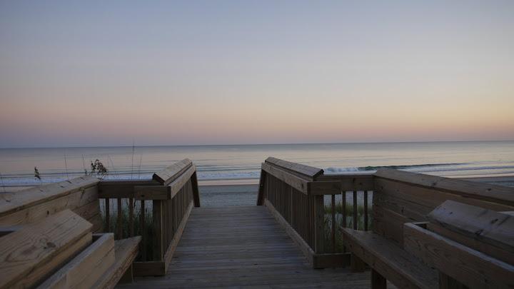 Beach walkway - Ocean Oaks in Emerald Isle North Carolina an oceanside subdivision
