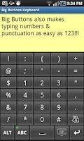 Screenshot of Big Buttons Keyboard Standard
