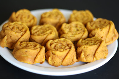 close-up photo of Sweet Potato Roses on a plate
