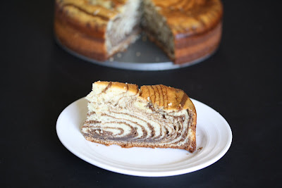 photo of a slice of cake on a plate