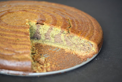 photo of a zebra cake