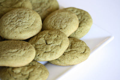 close-up photo of Soft and Chewy green tea cookies