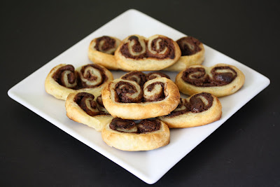 photo of a plate of Nutella Palmiers