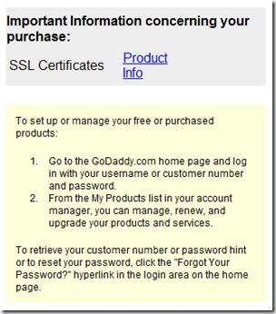 Installing a GoDaddy Standard SSL Certificate on SBS 2008