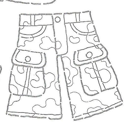 desenhos de roupa para colorir