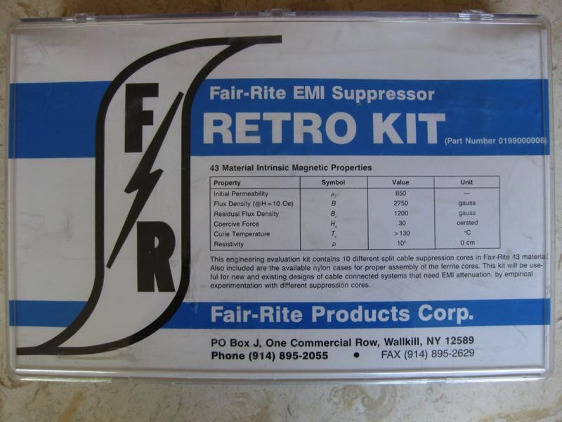 FAIR-RITE EMI SUPPRESSOR RETRO KIT #0199000008 | eBay