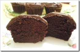 BC Choc cupcake cut