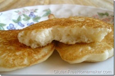 Bisquick pancake - cut
