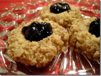 thumbprint cookies on plate