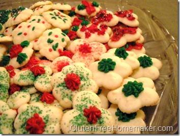 spritz cookies on plate