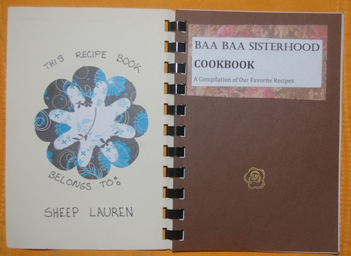 Baa Baa Sisterhood Cookbook