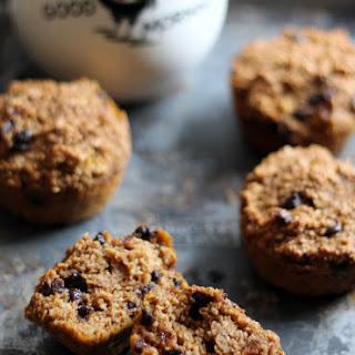 Pumpkin Chocolate Chip Oat Protein Muffins.