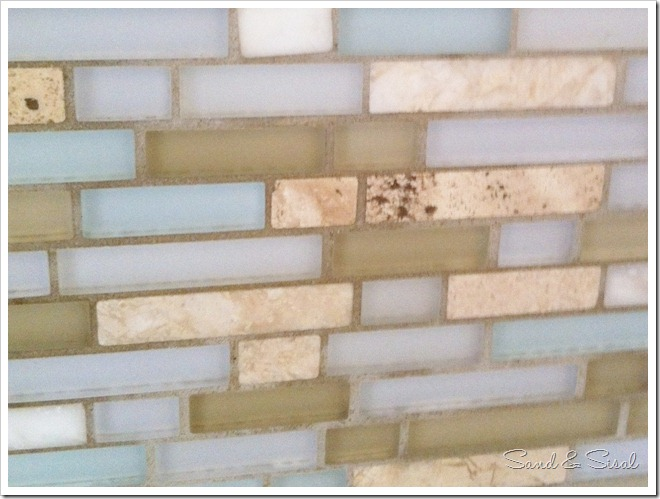stone and glass tile