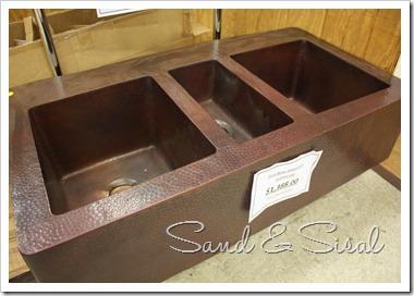 triple copper sink