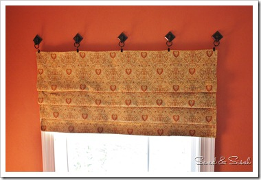 finished roman blind