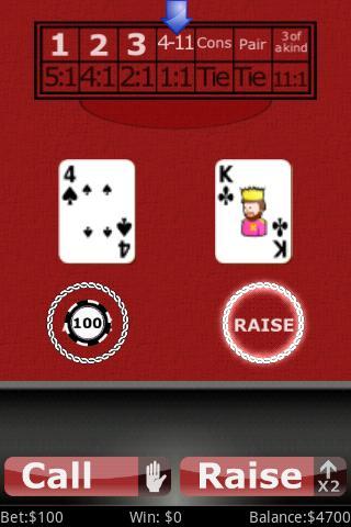 Red Dog Poker- screenshot